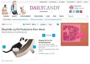Hepper Cat Scratching Post in DailyCandy.com
