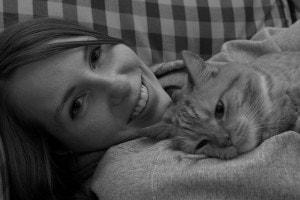 happy-lady-cat