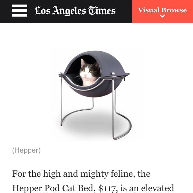 Hepper featured in the LA Times