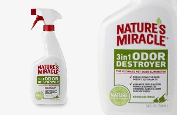 natures miracle 3 in one odor destroyer