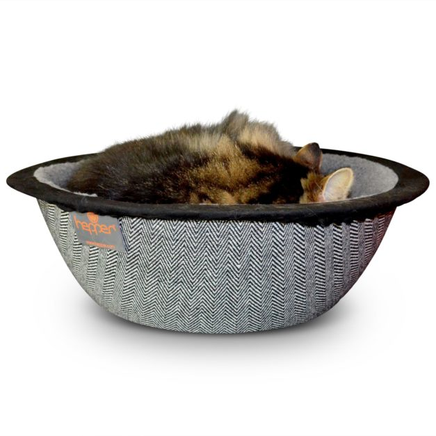 Hepper Cat Bed Herringbone