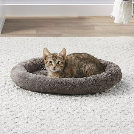 2Frisco Self Warming Bolster Round Cat Bed