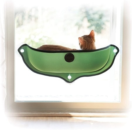 2K&H PET PRODUCTS EZ Mount Window Bed Kitty Sill Green