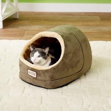 4Armarkat Cave Shape Covered Cat & Dog Bed