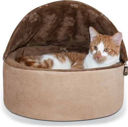 4K&H Pet Products Self-Warming Hooded Cat Bed