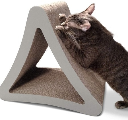 4PetFusion 3-Sided Vertical Cat Scratching Post