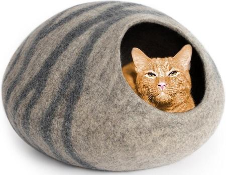 5Meowfia Premium Felt Cat Cave Bed