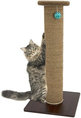 6Kitty City Premium 32 inch Tall Woven Sisal Carpet Cat Scratching Post