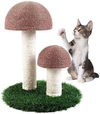 6Octagon Cat Scratching Post, Mushroom Scratching Post