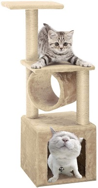 8Paws n Pals 3-in-1 Cat Scratching Post wHammock & Toy
