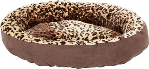 Aspen Pet Round Animal Print Bolster Cat & Dog Bed