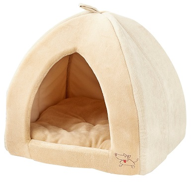 Best Pet Supplies Fleece Tent Covered Cat & Dog Bed