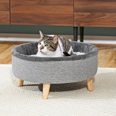 Frisco Modern Round Elevated Cat Bed