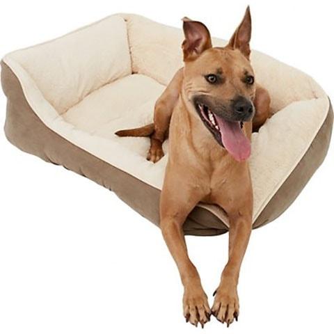 Frisco Rectangular Bolster Cat & Dog Bed
