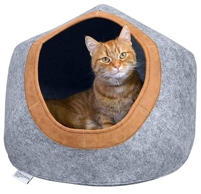 Kitty City Felt Round Bed, Warm and Cozy cat Bed