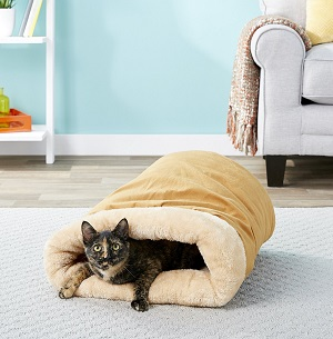 Pet Magasin Self Warming Cat Cave, Brown