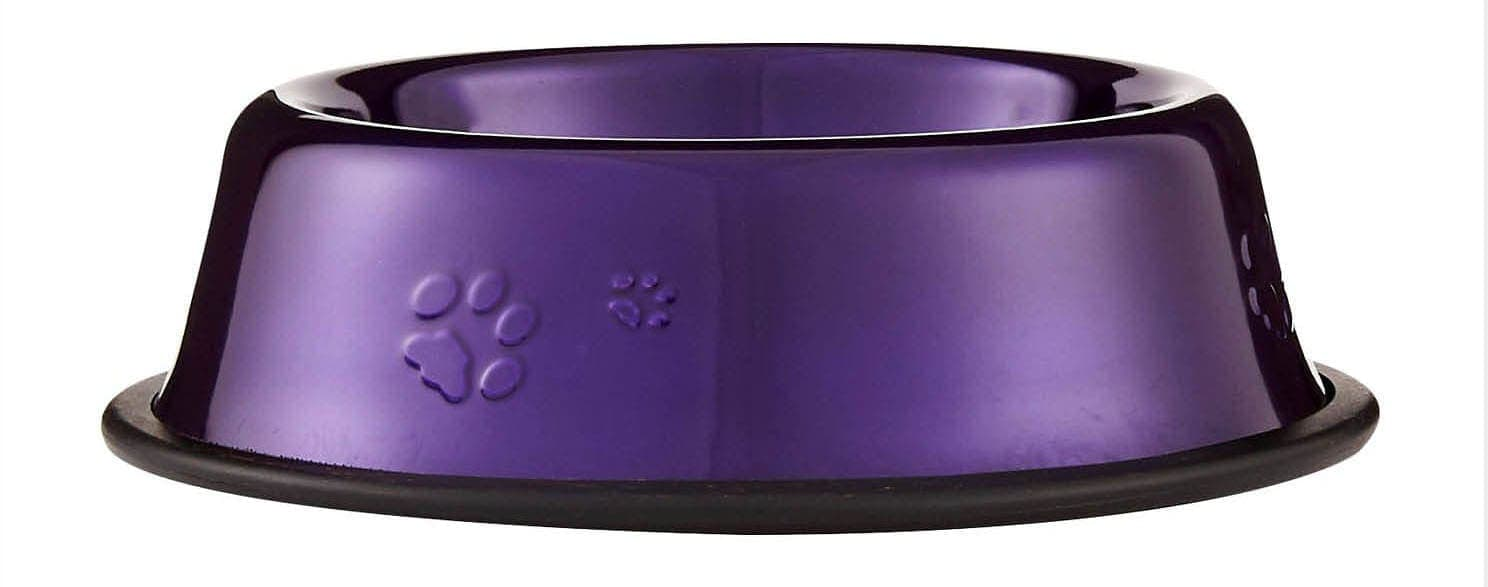 Platinum Pets Stainless Steel Embossed Non-Tip Dog Bowl