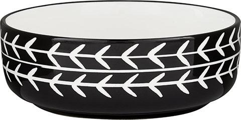 Signature Housewares Black Arrow Non-Skid Ceramic Dog & Cat Bowl