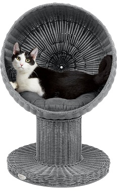 The Refined Feline Kitty Ball Cat Bed