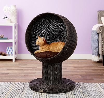 The Refined Feline Modern Cat Bed - Espresso