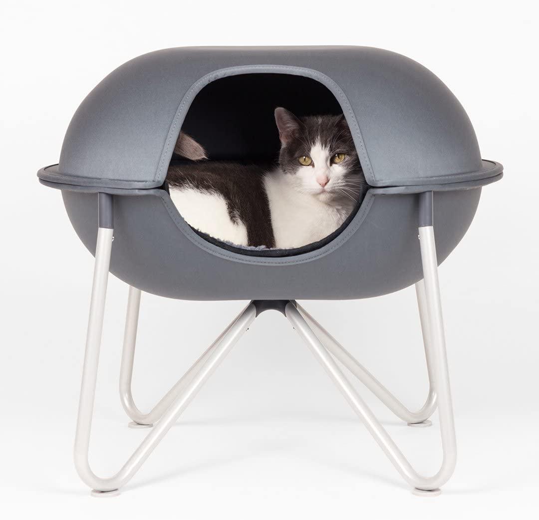 cat in Hepper Pod Cave Cat Bed