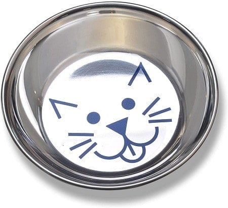 10Van Ness Stainless Steel Saucer Style Cat Dish