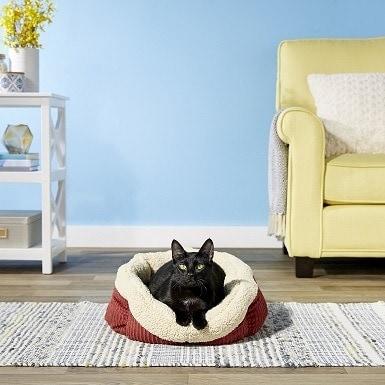 2Aspen Pet Self-Warming Bolster Cat & Dog Bed
