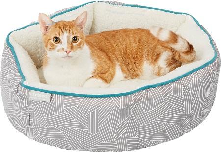 2Frisco Sherpa Hexagon Bolster Cat & Dog Bed