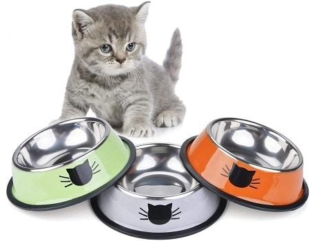 9Legendog 3PCS Pet Bowl Stainless Steel