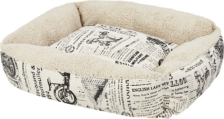 9Paws & Pals 1800's Newspaper Bolster Cat & Dog Bed