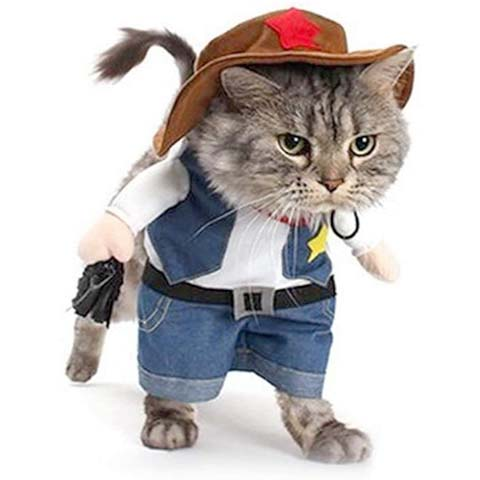 NACOCO Cowboy Cat Halloween Costume