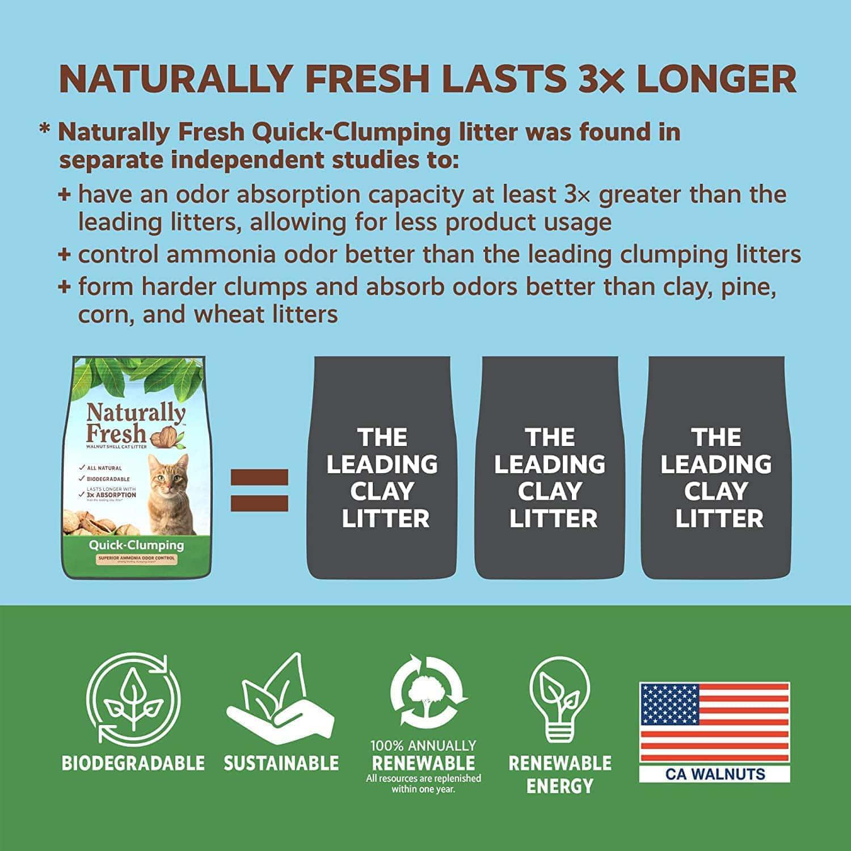 Naturally Fresh Cat Litter - Walnut-Based Quick-Clumping