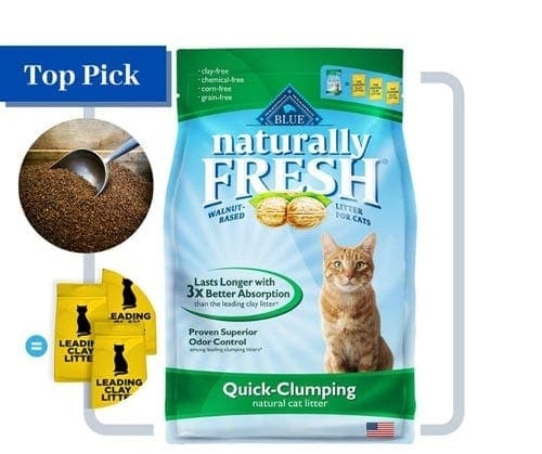 Naturally Fresh Walnut-Based Household Quick-Clumping Litter