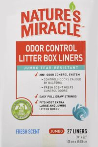 natures miracle litter box liners