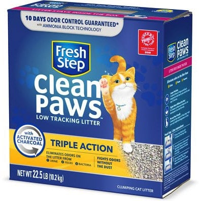 Fresh Step Clean Paws Scented Clumping Clay Cat Litter