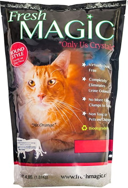 FreshMAGIC Round Crystals, Premium Cat Litter_Amazon
