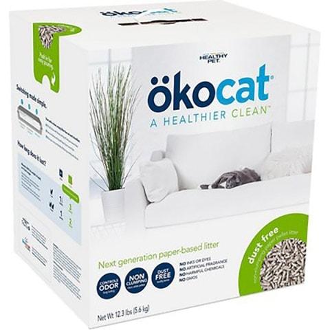 Okocat Dust-Free Unscented Non-Clumping Paper Pellet Cat Litter