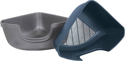 Petmate Corner Sifting Litter Pan