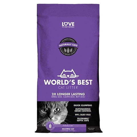 World's Best Lavender Scented Clumping Corn Cat Litter
