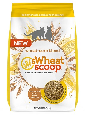 sWheat Scoop Wheat-Corn Blend Unscented Clumping Cat Litter