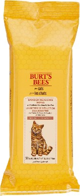 Burt's Bees Dander Reducing Wipes with Colloidal Oat Flour & Aloe Vera For Cats