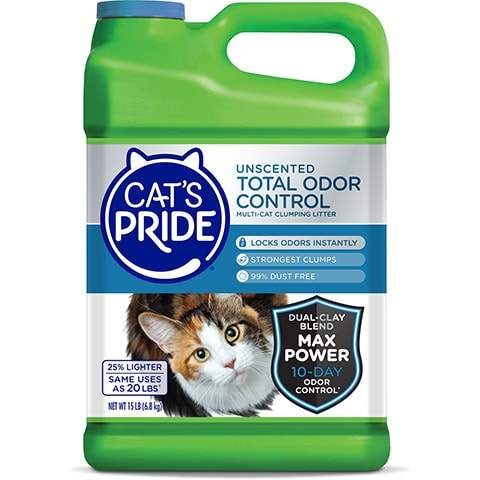 Cat's Pride Total Odor Control Unscented Clumping Clay Cat Litter