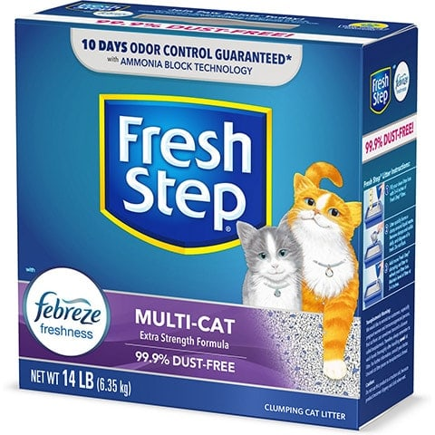 Fresh Step Multi-Cat Scented Clumping Clay Cat Litter