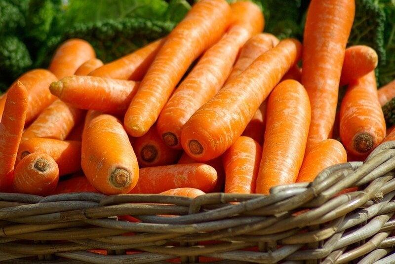 carrots in basket pixabay